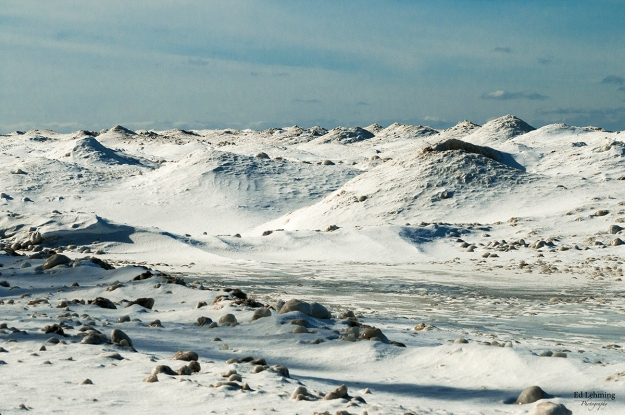"""Mountain Range III"" - Lake Huron Winter Shores"