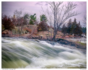 """Cold November at Burleigh Falls"""