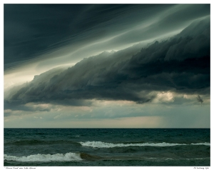 """Storm Front over Lake Huron"""