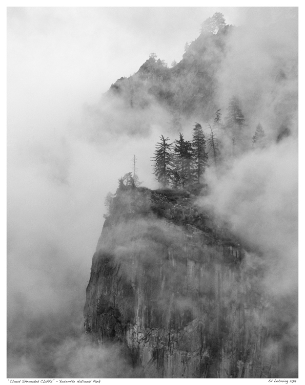 Cloud Shrouded Clifffs - Yosemite 2013
