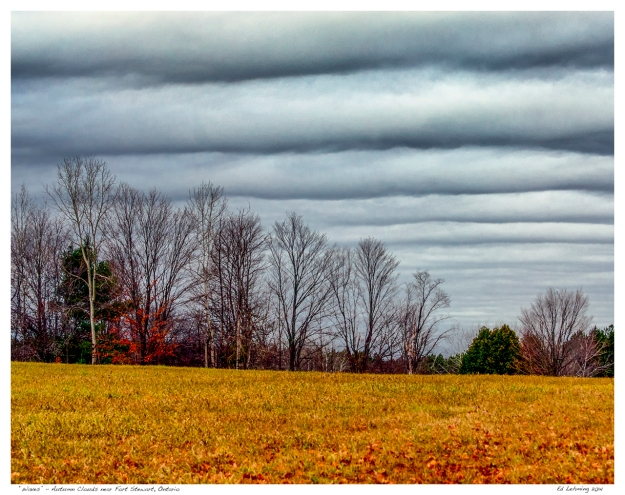 """Waves"" - Autumn Clouds near Fort Stewart, Ontario"