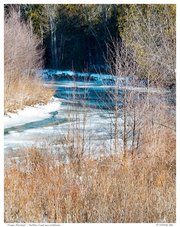 """Frozen Riverbend"" - Duffins Creek near Whitevale"