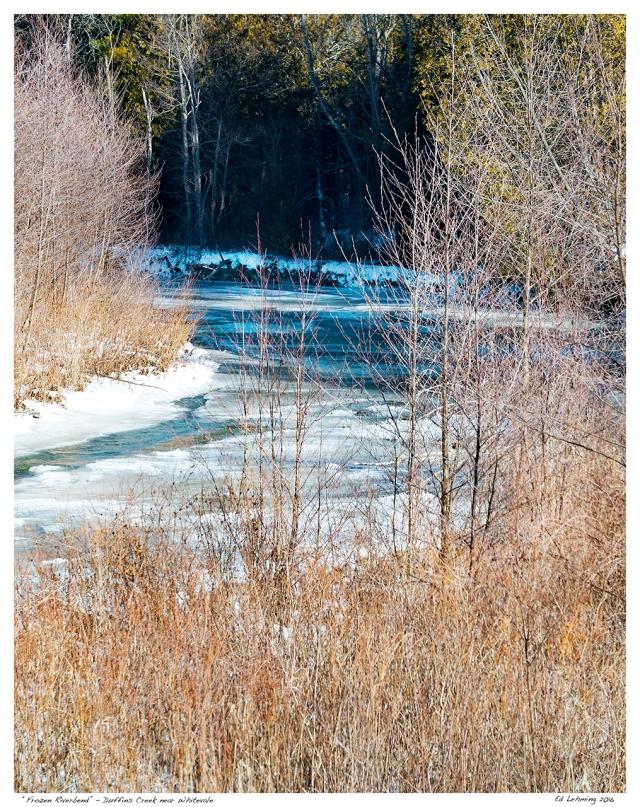 """""""Frozen Riverbend"""" - Duffins Creek near Whitevale"""