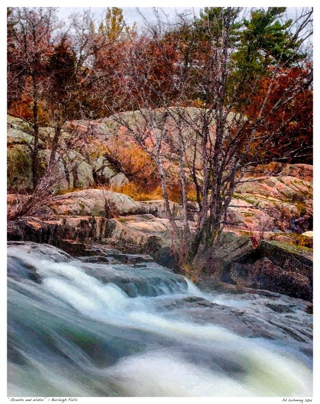 """""""Granite & Water' Burleigh Falls"""