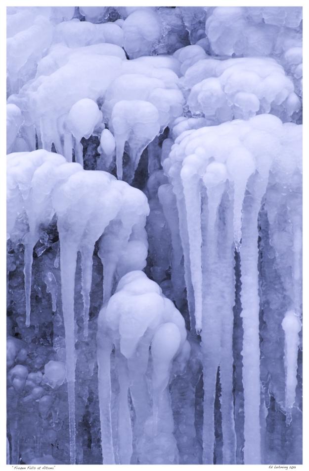 Icicles in Frozen Fall near Altona Ontario