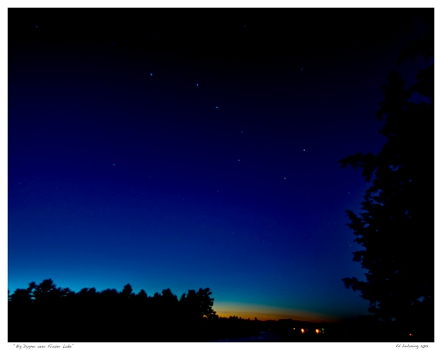 Big Dipper over Fraser Lake 2013