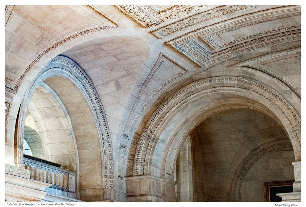 """Astor Hall Arches"" - New York Public Library"