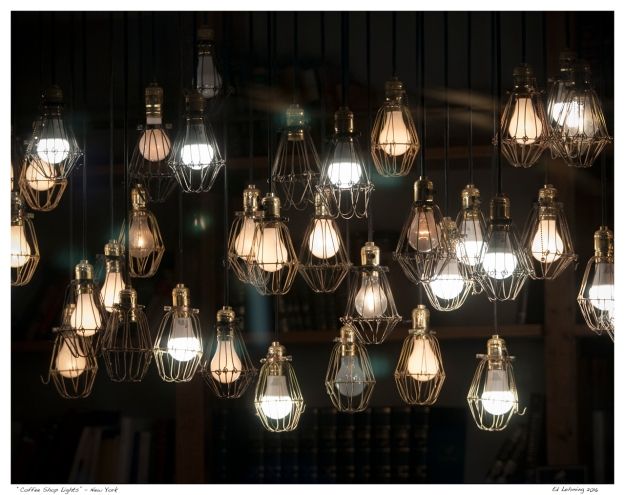 """Coffee Shop Lights"" - New York"
