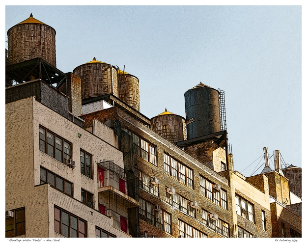"""Rooftop Water Tanks"" - New York"
