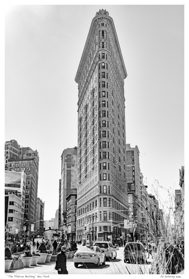 """The Flatiron Building"" New York"