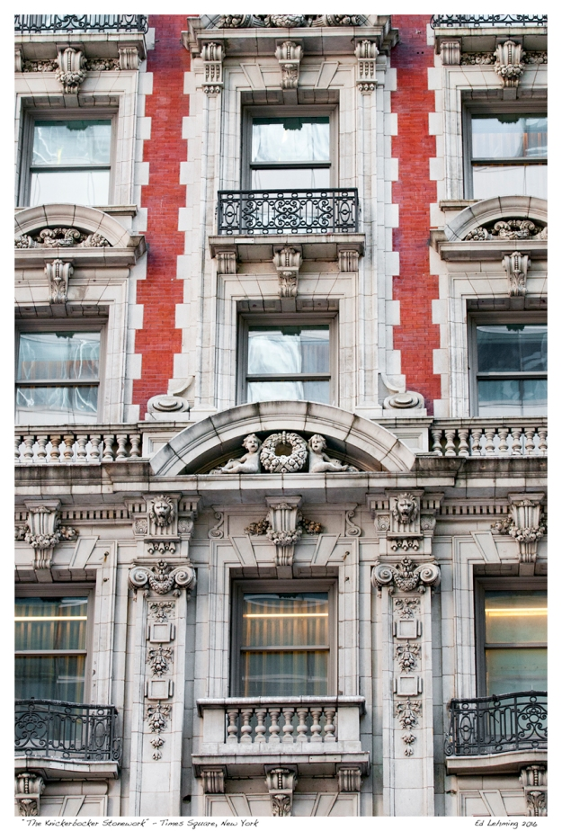 """The Knickerbocker Stonework"" - Times Square, New York"