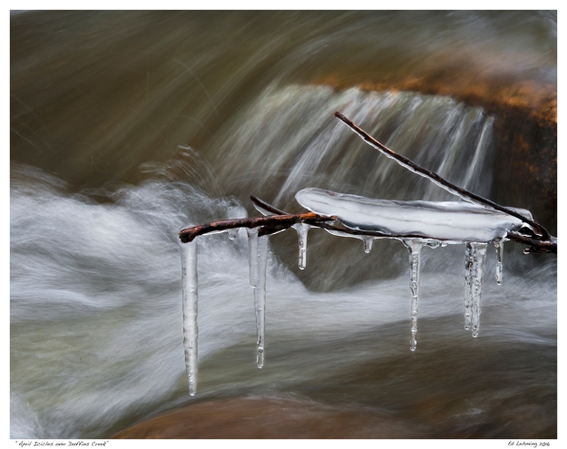 """April Icicles over Duffins Creek"""