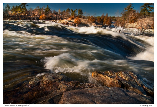 """April Sunset at Burleigh Falls"""