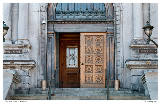 """City Hall Doors"" - Montreal"