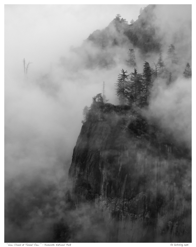 Low Cloud at Tunnel View - Yosemeite National Park