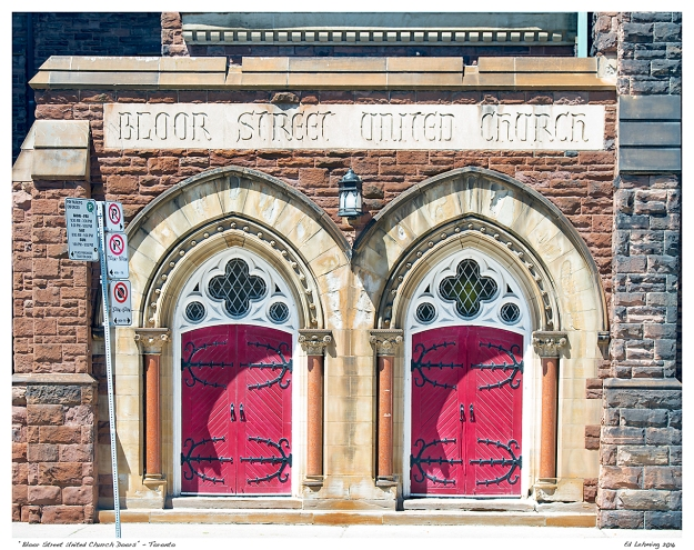 """Bloor Street United Church Doors"" - Toronto"