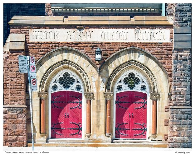 """""""Bloor Street United Church Doors"""" - Toronto"""