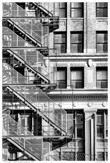 """Fire Escape"" - Church Street at Vesey, New York"