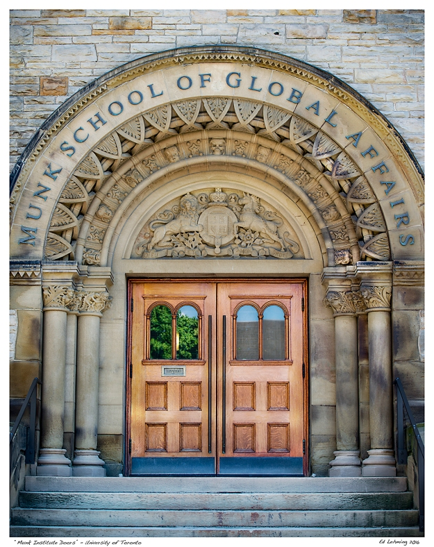 """Munk Institute Doors"" - University of Toronto"