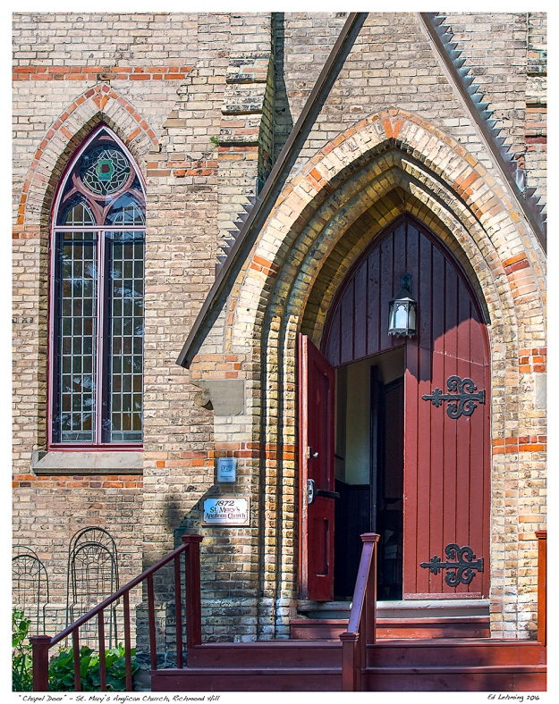 """Chapel Door"" - St. Mary's Anglican Church, Richmond Hill"
