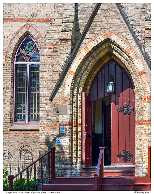 """Chapel Door"" - St. Mary's Anglican Church, Richmond Hill"