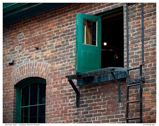 """Mind Your Step"" - Distillery District, Toronto"