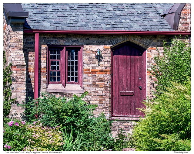 """""""Old Side Door"""" - St. Mary's Anglican Church, Richmond Hil"""