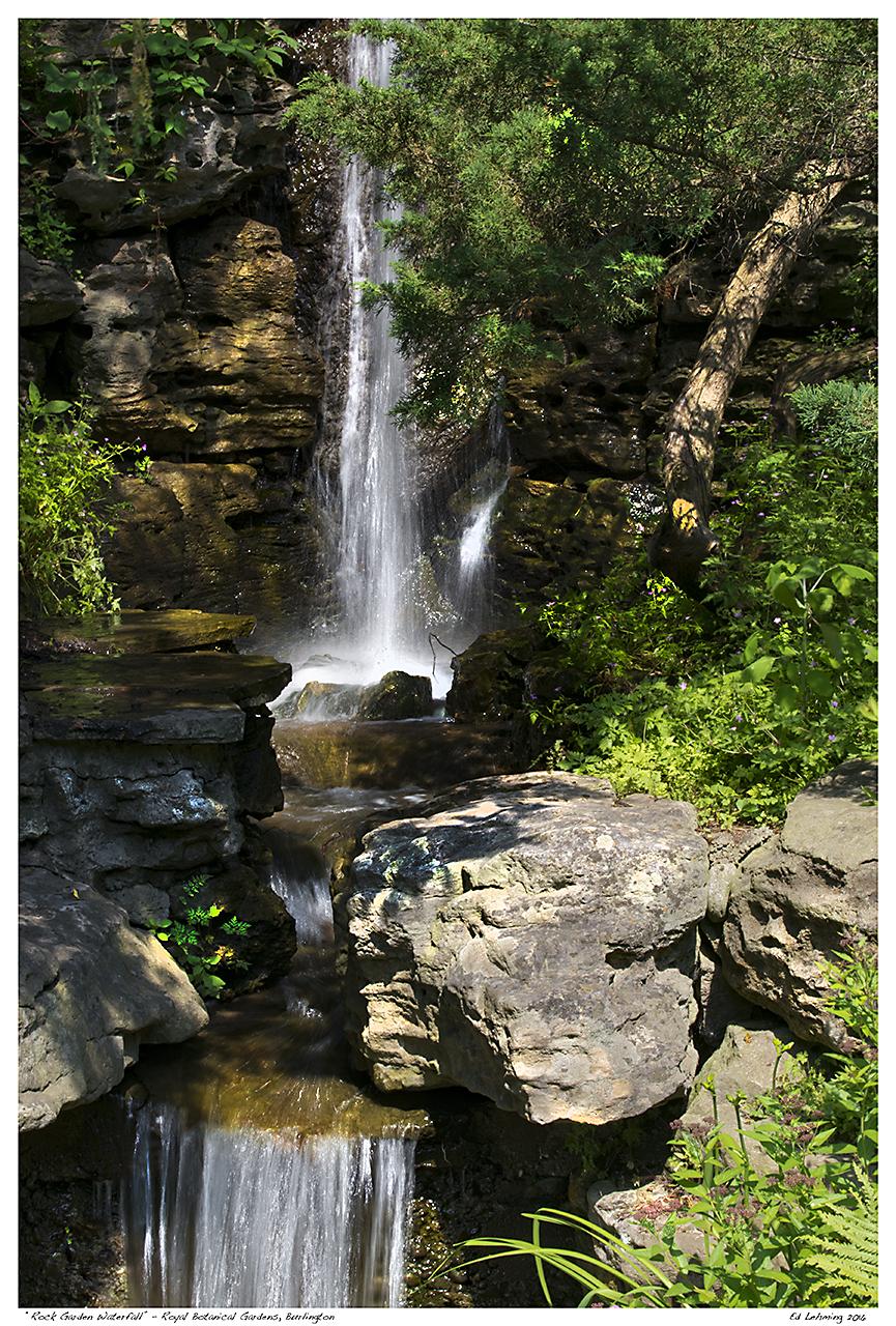 U201cRock Garden Waterfallu201d   Royal Botanical Gardens, Burlingto. U201c