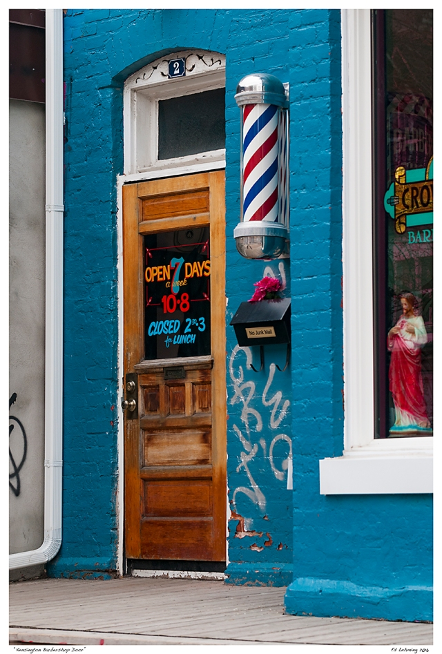 """Kensington Barbershop Door"""