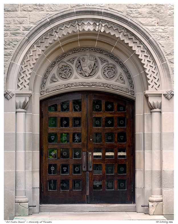"""Art Centre Doors"" - University of Toronto"