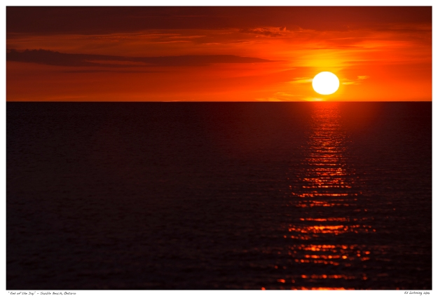 """""""End of the Day"""" - Sauble Beach, Ontario"""
