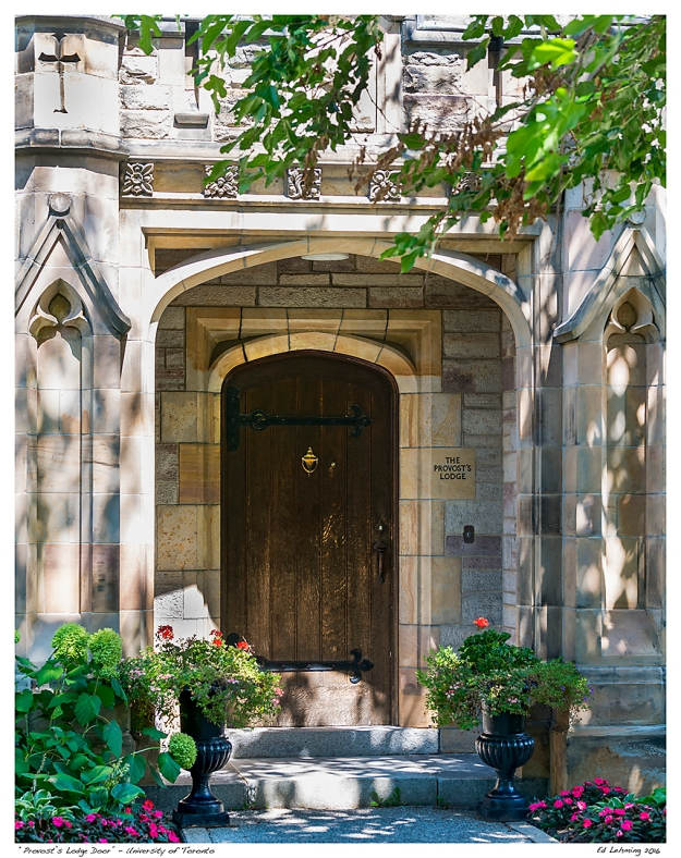 """Provost's Lodge Door"" - University of Toronto"