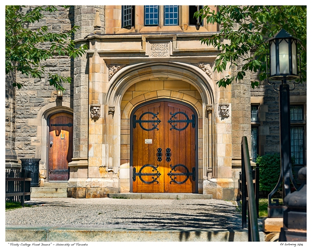 """Trinity College Front Doors"" - University of Toronto"