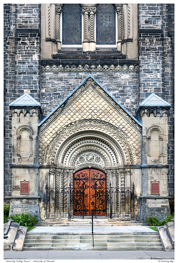 """University College Doors"" - University of Toronto"