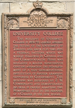University College Plaque