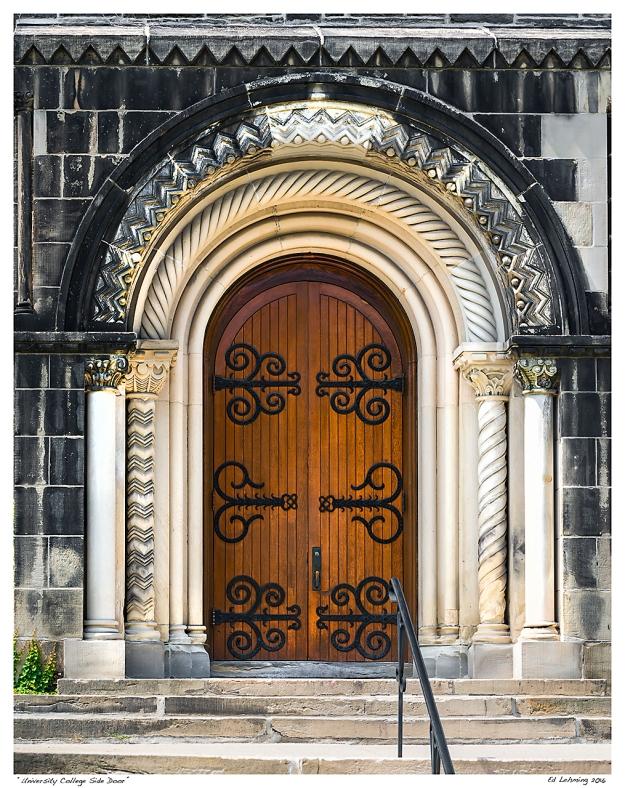 """""""University College Side Door"""""""