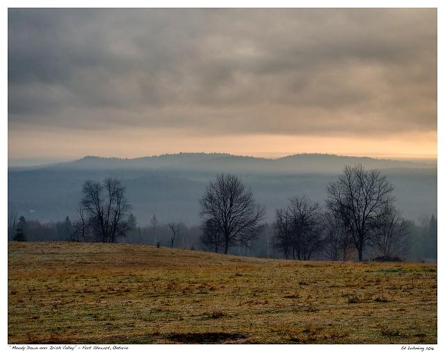"""Moody Dawn over Irish Valley"" - Fort Stewart, Ontario"