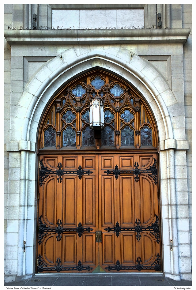 """""""Notre Dame Cathedral Doors"""" - Montreal"""