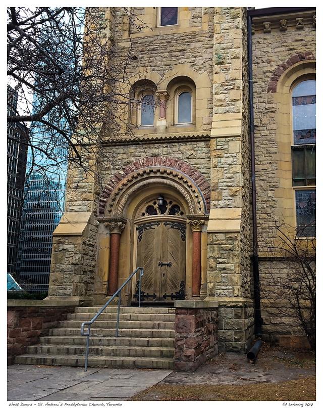 West Doors - St. Andrew's Presbyterian Church, Toronto