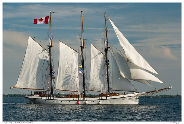 """Empire Sandy"" - Tall Ships at Bath, Ontario"