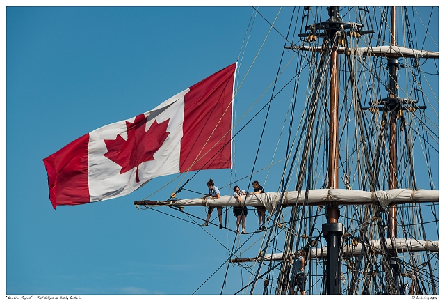 """On the Ropes"" - Tall Ships at Bath, Ontario"