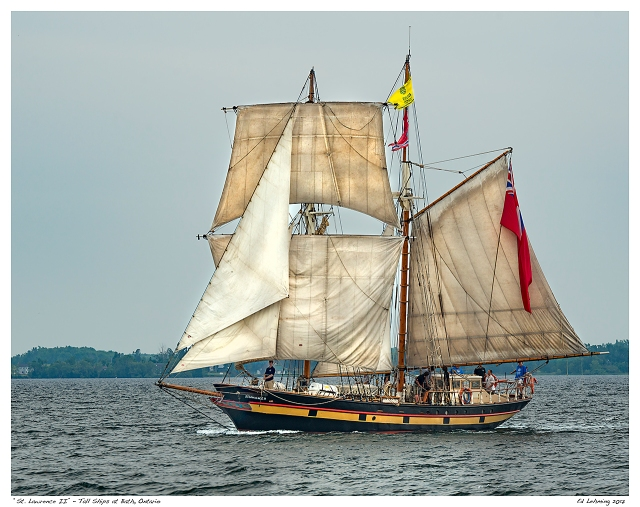 """St. Lawrence II"" - Tall Ships at Bath, Ontario"