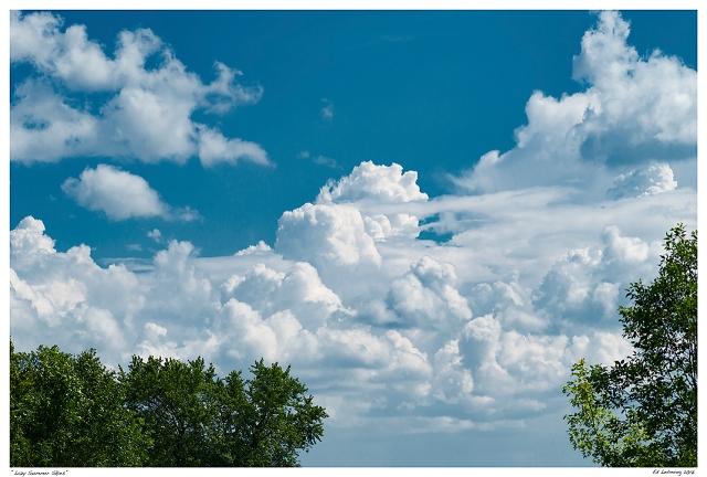 """Lazy Summer Skies"""