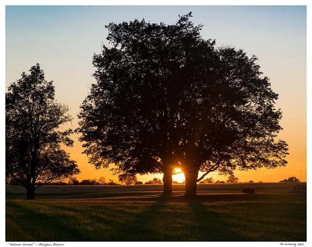 """Autumn Sunset"" - Glasgow, Ontario"