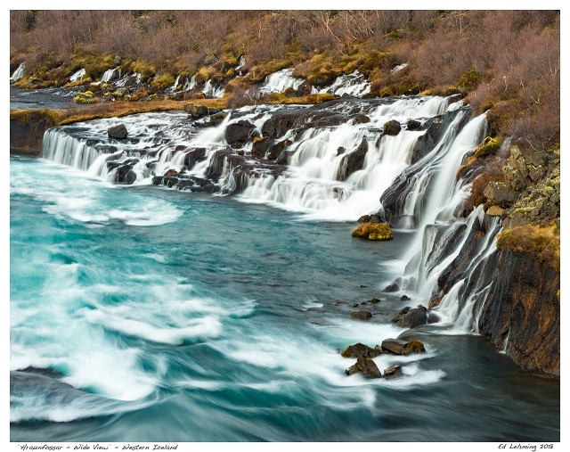 """Hraunfossar - Wide View"" - Western Iceland"