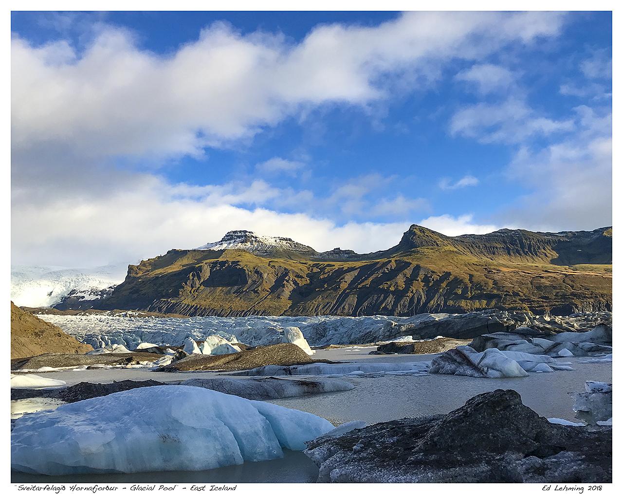 """""""Sveitarfélagið Hornafjörður - Glacial Pool"""" - East Icel"""