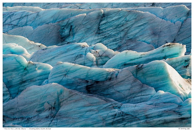 """""""Face to Face with the Glacier"""" - Svínafelsjökull, South I"""