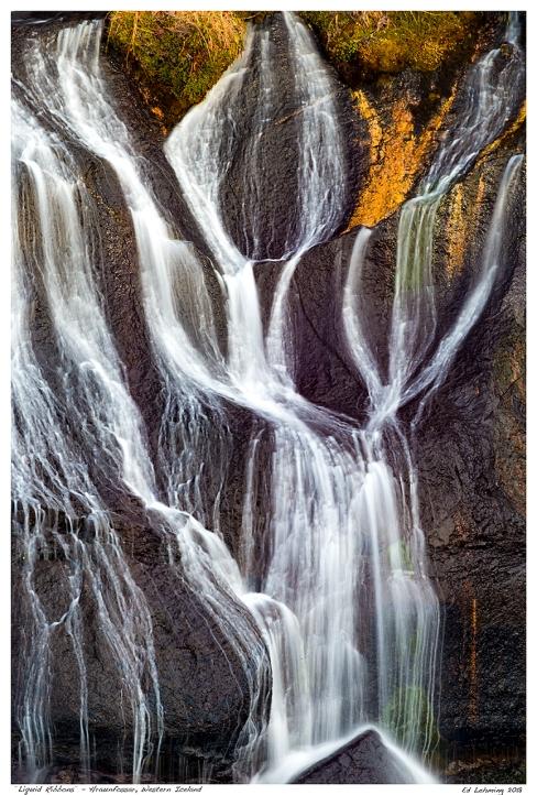 """Liquid Ribbons"" - Hraunfossar, Western Iceland"