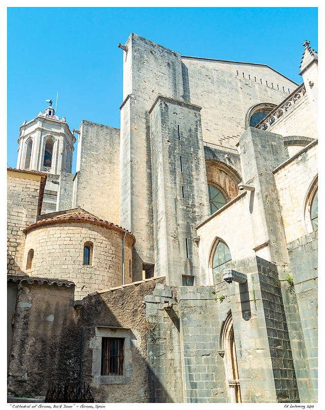 """Cathedral of Girona, Back Door"" - Girona, Spain"