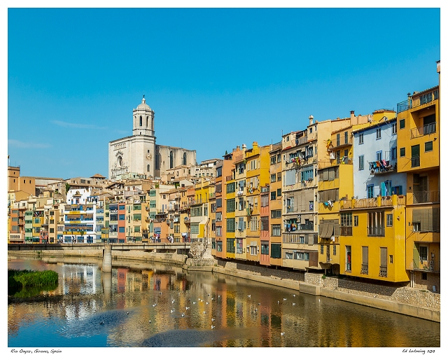 Rio Onyar, Girona, Spain